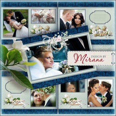 Free Wedding photo book psd free download