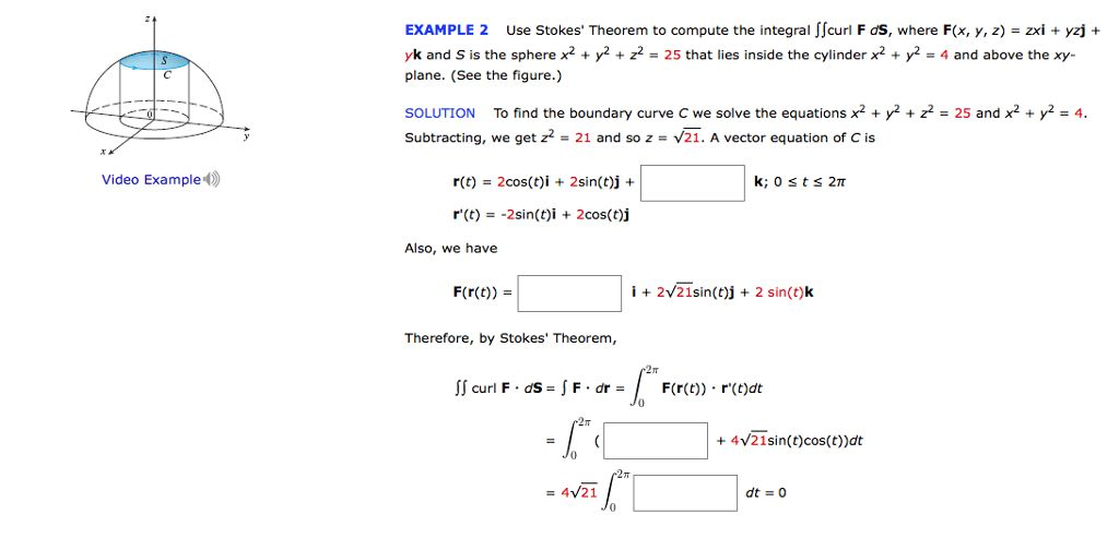 Use Stokes' Theorem To Compute The Integral Double... | Chegg.com