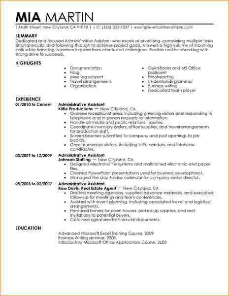 Administrative assistant cv example - Business Proposal Templated ...