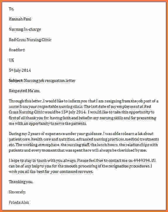 resignation letter for nurses - Sales Report Template