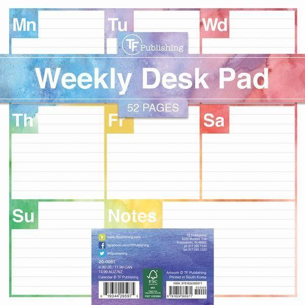 Elements Weekly Desk Pad – TF Publishing | 2018 Calendars + ...