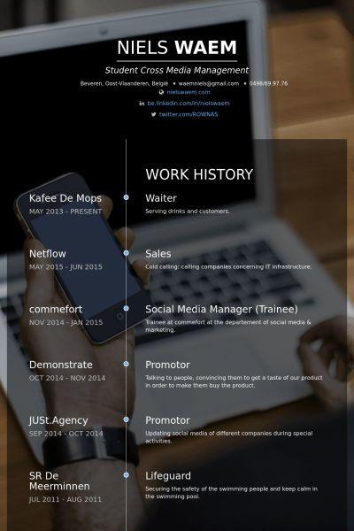 Waiter Resume samples - VisualCV resume samples database