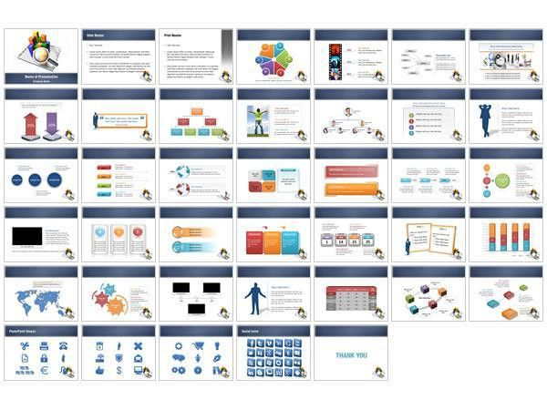 powerpoint graph templates free hand drawn bar chart template for ...