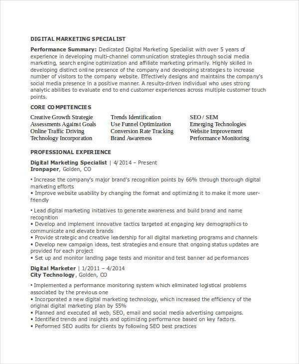 23+ Marketing Resume Templates | Free & Premium Templates