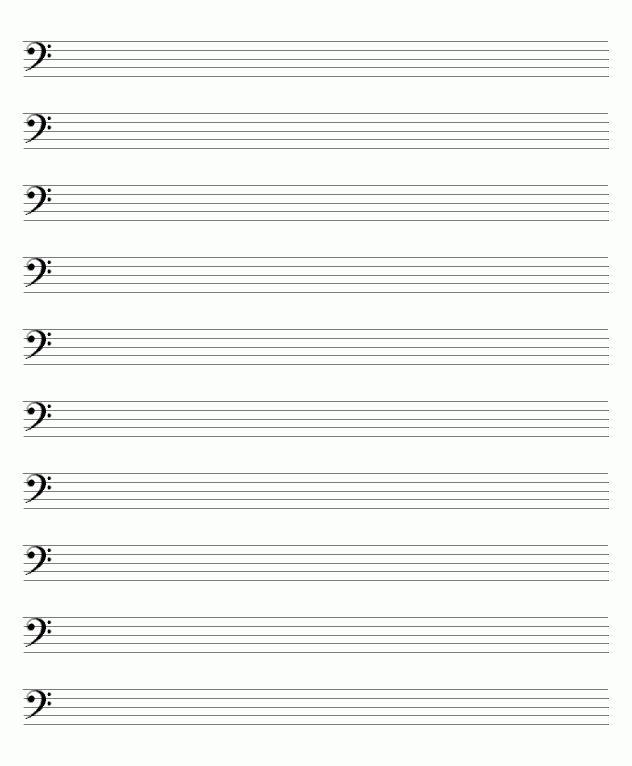 blank sheet music bass clef - Google Search | music | Pinterest ...