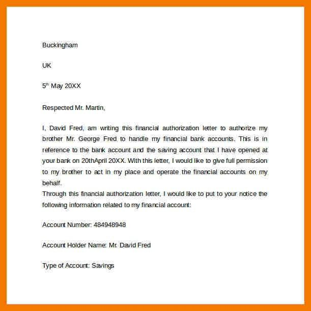 6+ authorised letter to bank | mailroom clerk