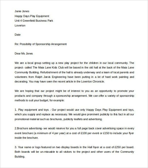 Fundraising Letter Template – 7+ Free Word, PDF Documents Download ...