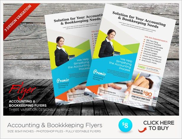 Accounting & Bookkeeping Services Trifold Brochure by kinzi21 ...