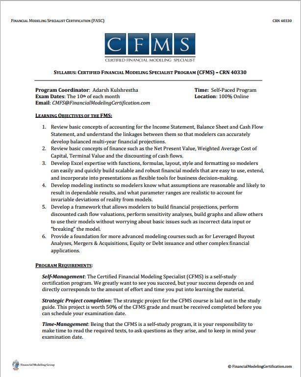 Financial Modeling Resume Tips | Financial Modeling Certification