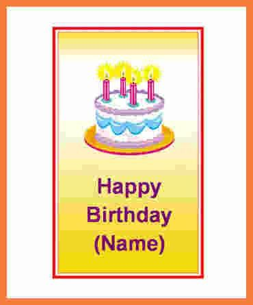 5+ birthday card template word | Marital Settlements Information