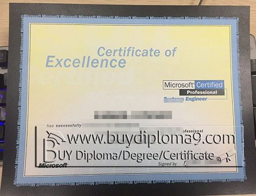 Certificate of Excellence Microsoft systerms Engineer Buy diploma ...