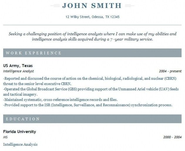 Veteran Resume Examples, military resume builder ...