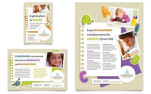Kindergarten Flyer & Ad - Microsoft Word Template & Publisher ...