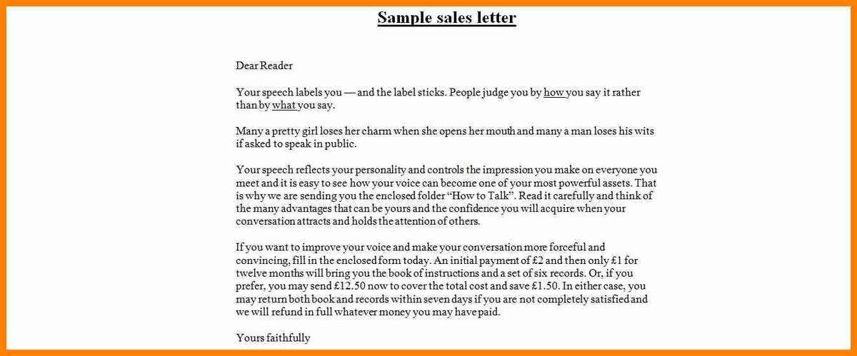 11+ simple example about sales letter | buyer resume
