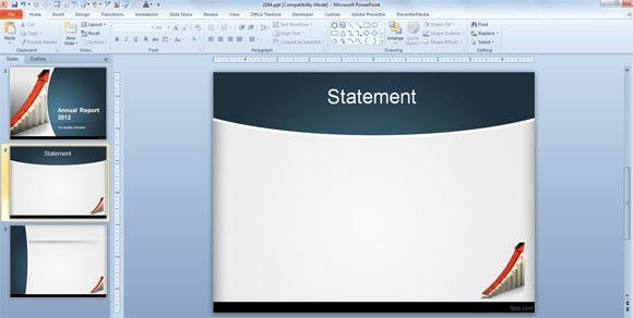 How to Make an Annual Report using PowerPoint Templates