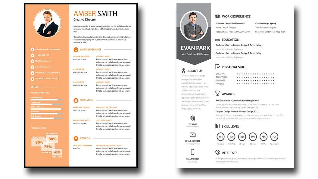I will give 15 PSD editable Resume Templates for $6 - SEOClerks