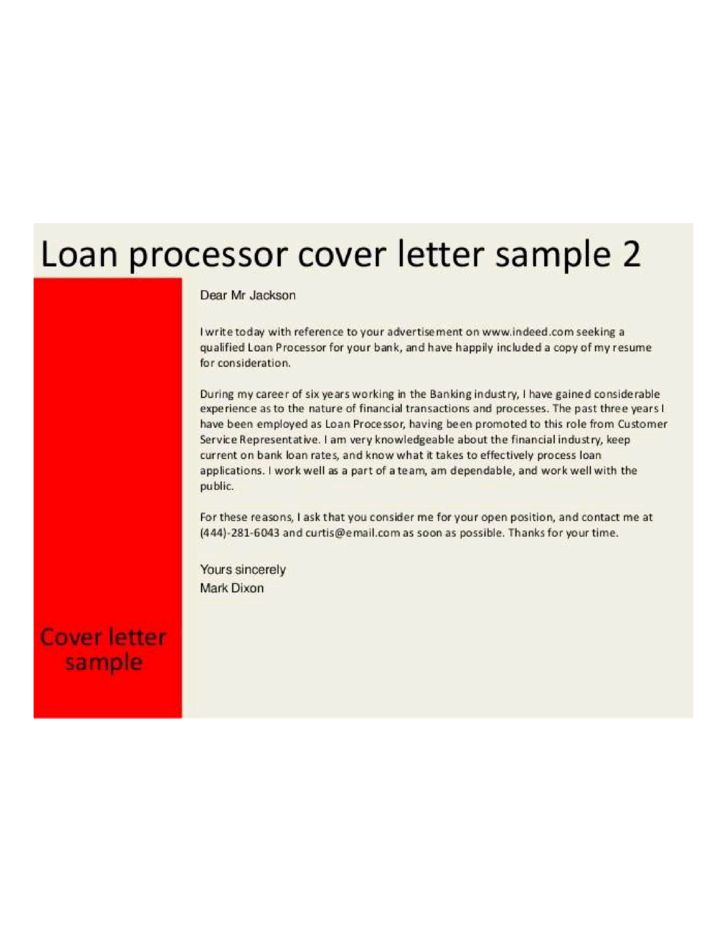 Loan Analyst Cover Letter