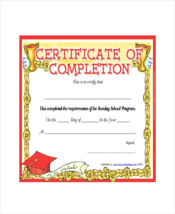 Sunday School Certificate Template - 5+ Free Word, Excel, PDF ...