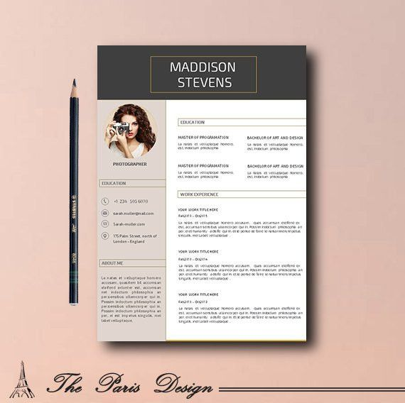 CV Template, Resume Teacher, CV Template Word, Creative CV ...