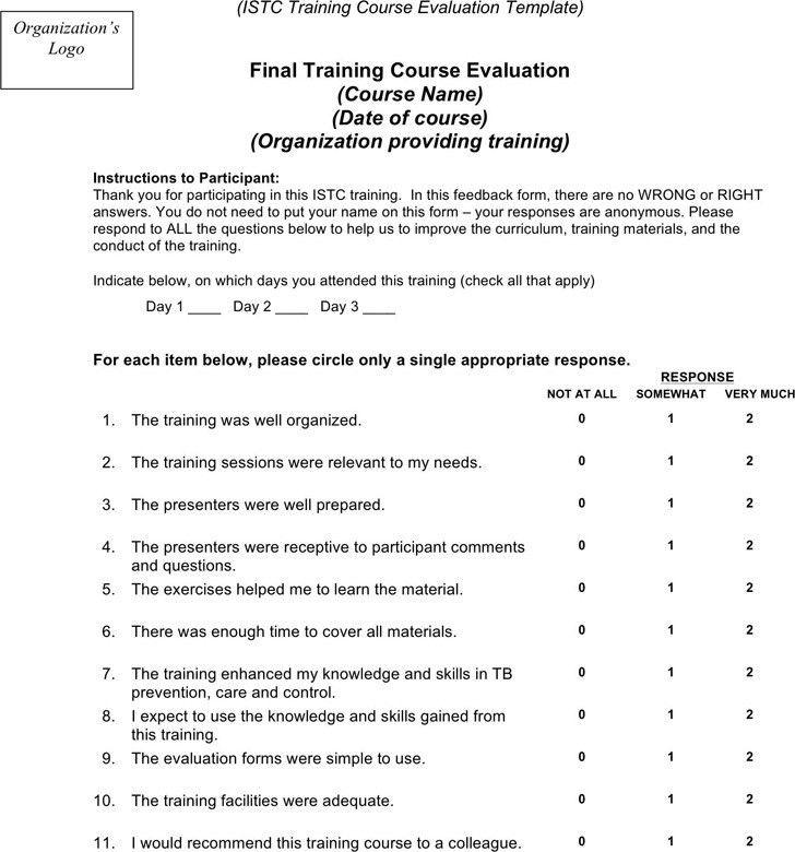 Training Evaluation Form   Download Free & Premium Templates ...