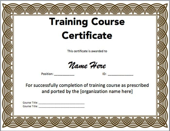 15 Training Certificate Templates – Free Download | Templates ...