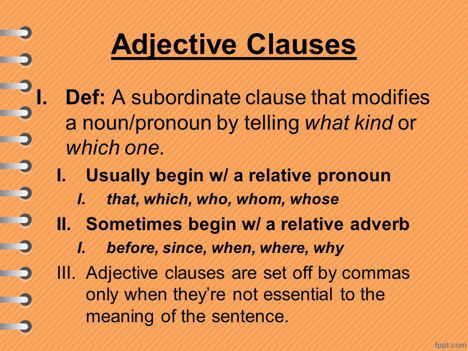 Section 21.2: Clauses Independent and Subordinate Clauses. - ppt ...