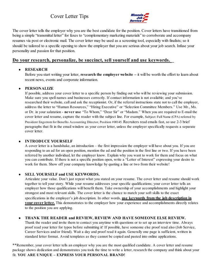 247 best Resume images on Pinterest | Job search, Cover letter ...