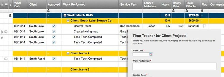 Time Tracker for Client Projects Template with Form | Smartsheet