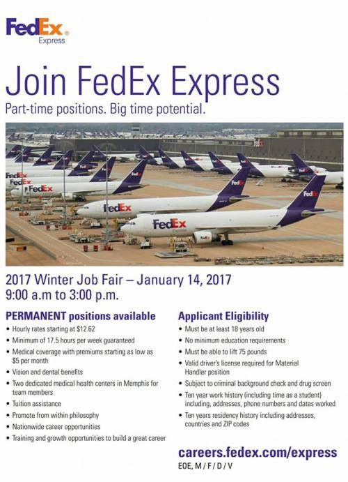 FedEx Express 2017 Winter Job Fair on January 14, 2017 | Job ...