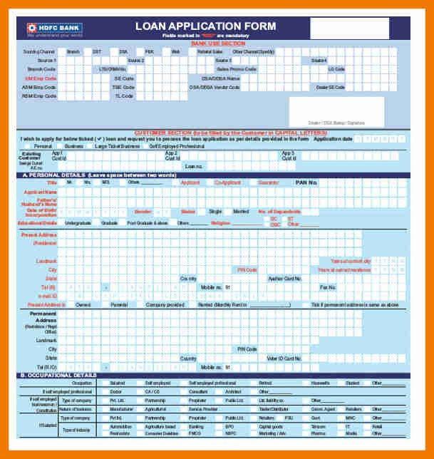 8+ home loan application form | resume holder