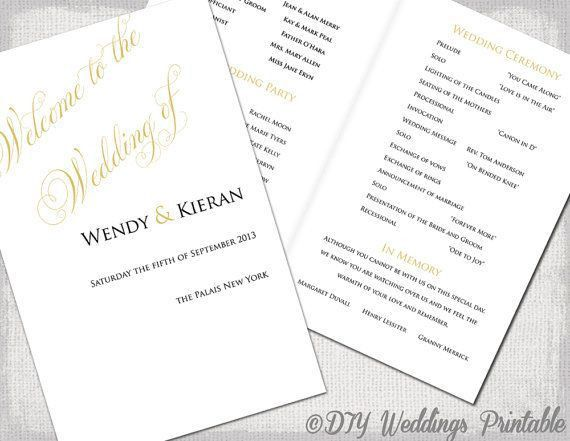 Best 25+ Wedding ceremony booklet templates ideas on Pinterest ...