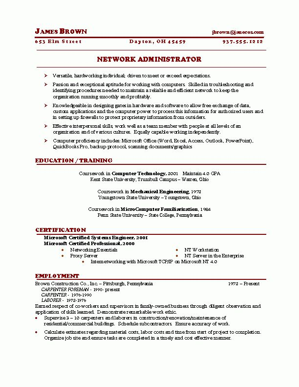 Nursing Resume Template #14217