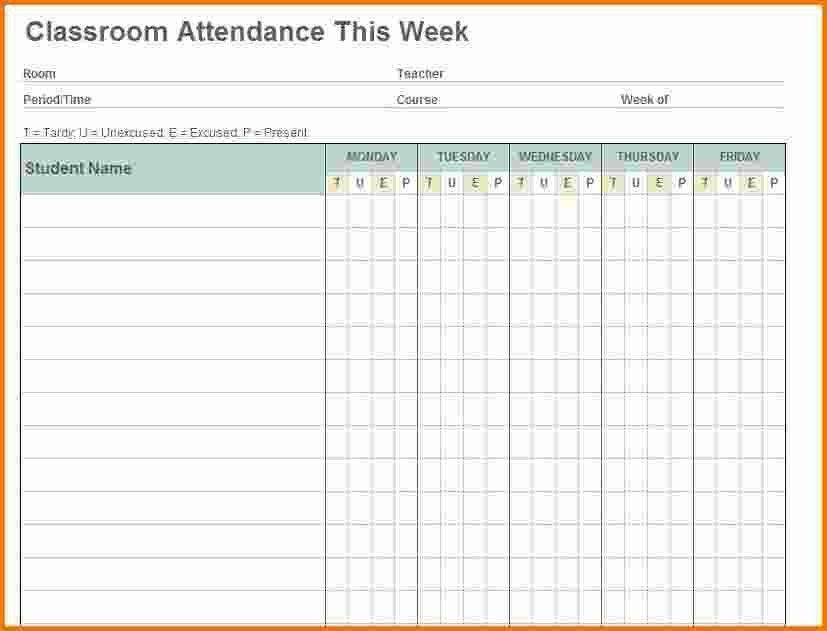 4+ attendance sheet template | Expense Report