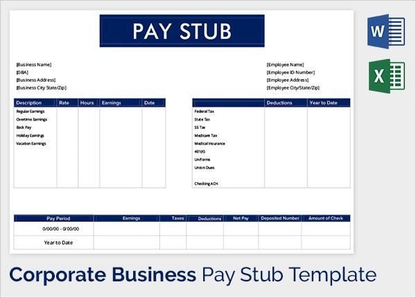 payroll stub template - thebridgesummit.co