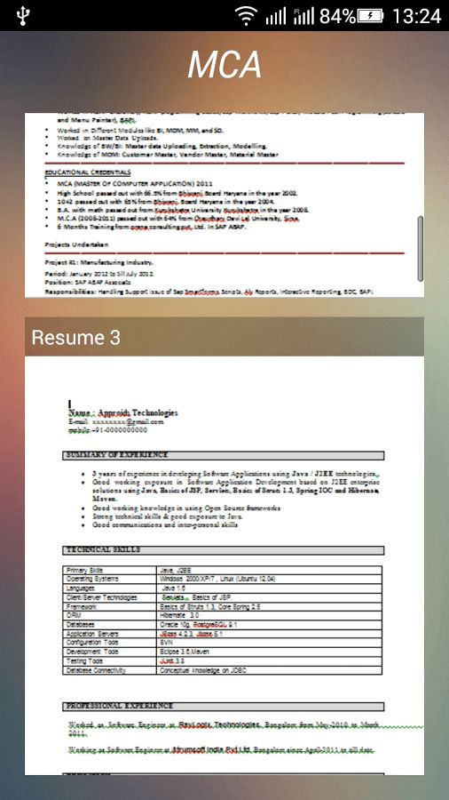 Resume Formats Download - Android Apps on Google Play