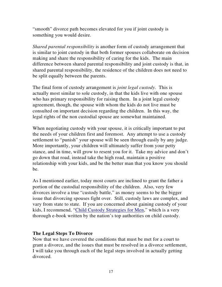 basic visitation schedule. sample divorce mediation agreement ...