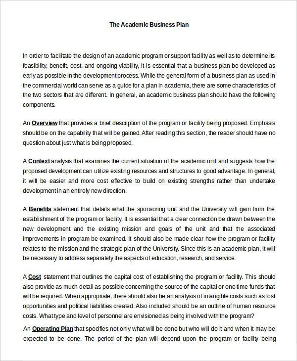 Business Plan Template in Word - 10+ Free Sample, Example, Format ...