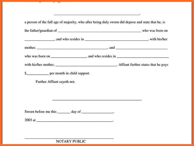 child support agreement | soap format