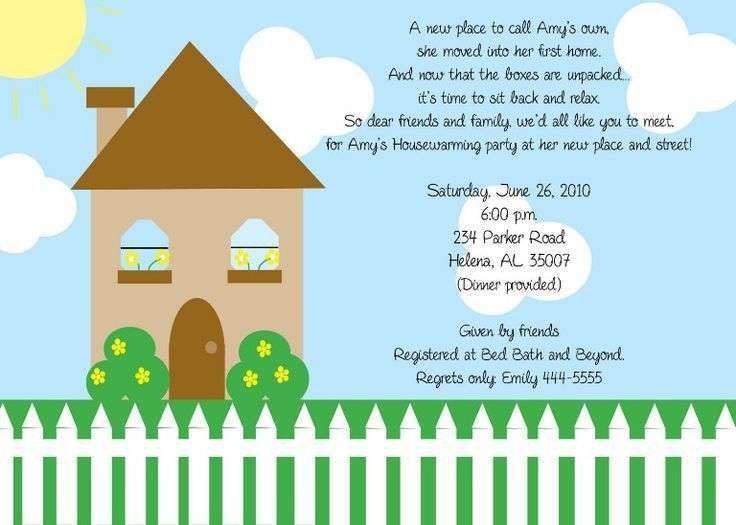 Housewarming Invitation Template | Invitation Sample | Pinterest ...