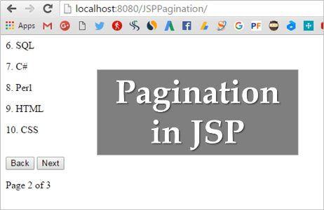 JSP Pagination Example Using jQuery, AJAX, JSON and MySQL - The ...