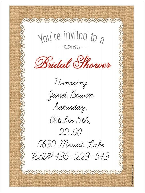 Bridal Shower Invitation Templates | dancemomsinfo.com