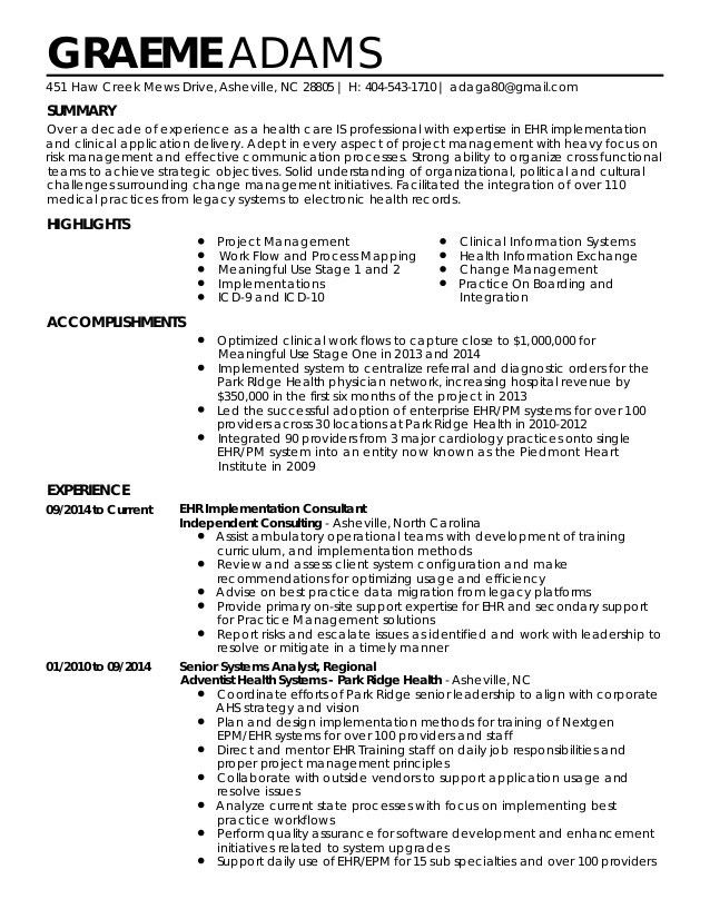 Implementation Consultant Cover Letter