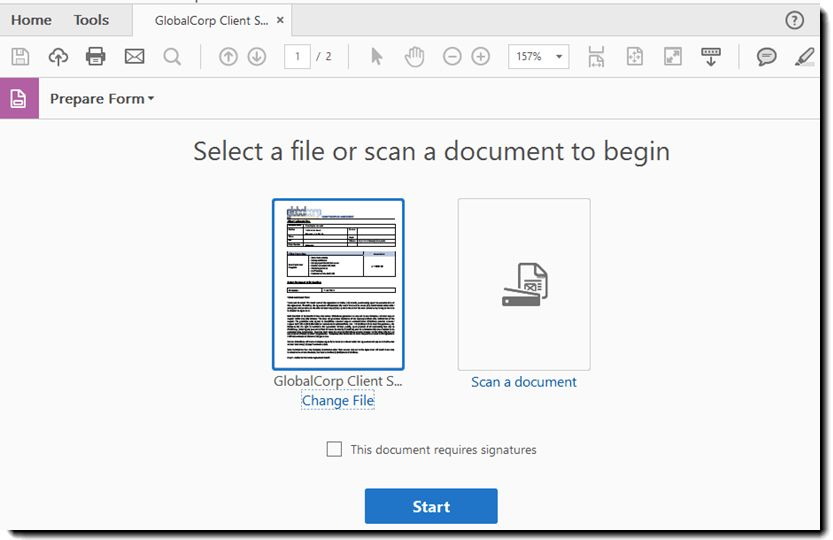 Adobe Sign - Creating Forms within Acrobat