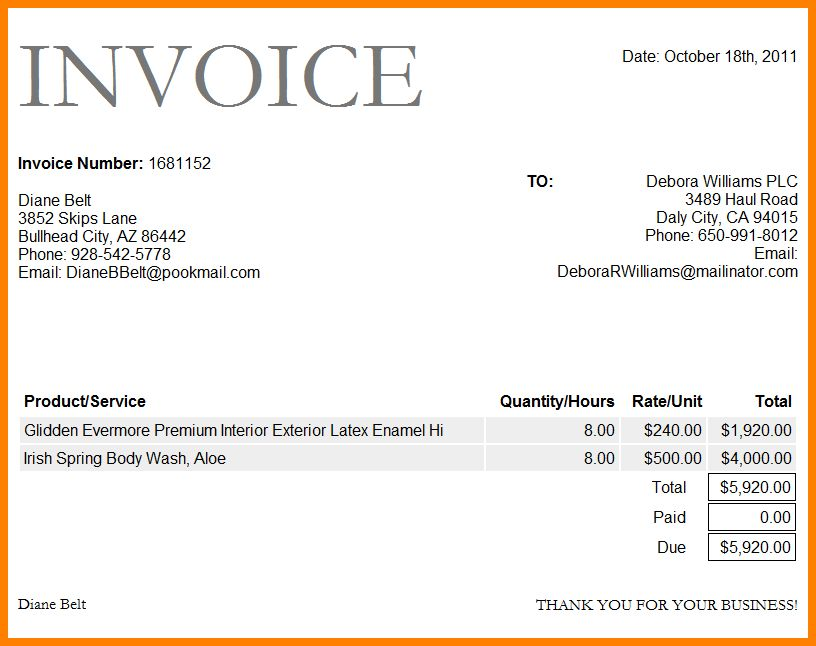 9+ invoice sample word document | ledger paper
