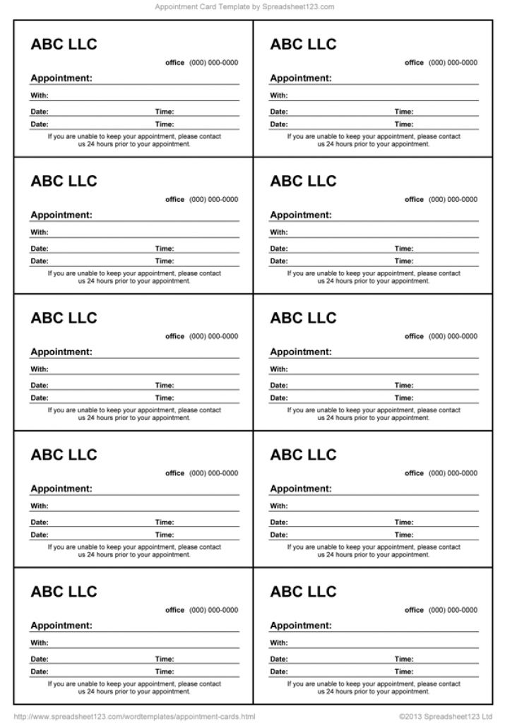 excel business card templates
