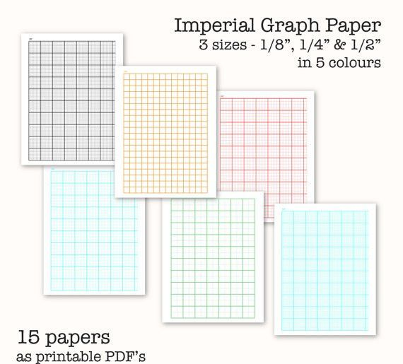 15 Imperial Measure Graph Papers - Digital Graph Paper, PDF ...