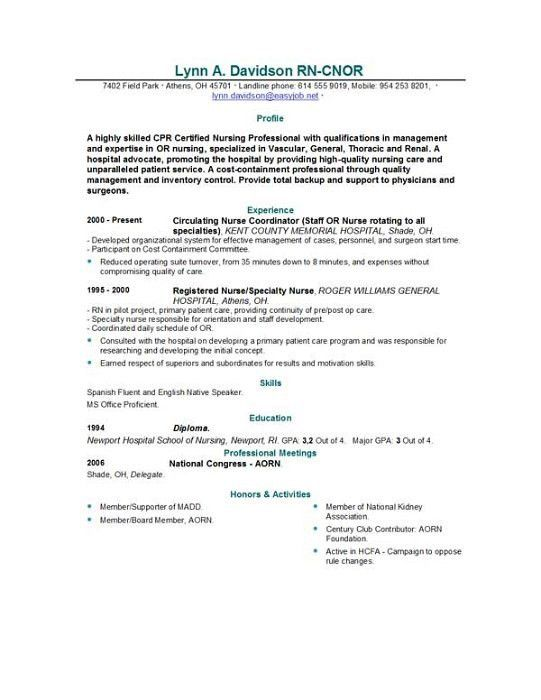 example nursing resume cover letter new grad nurse sample graduate ...