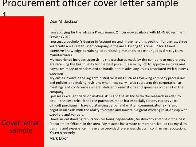 Download Procurement Specialist Cover Letter ...