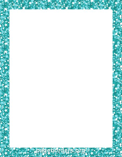 Printable blue glitter border. Use the border in Microsoft Word or ...
