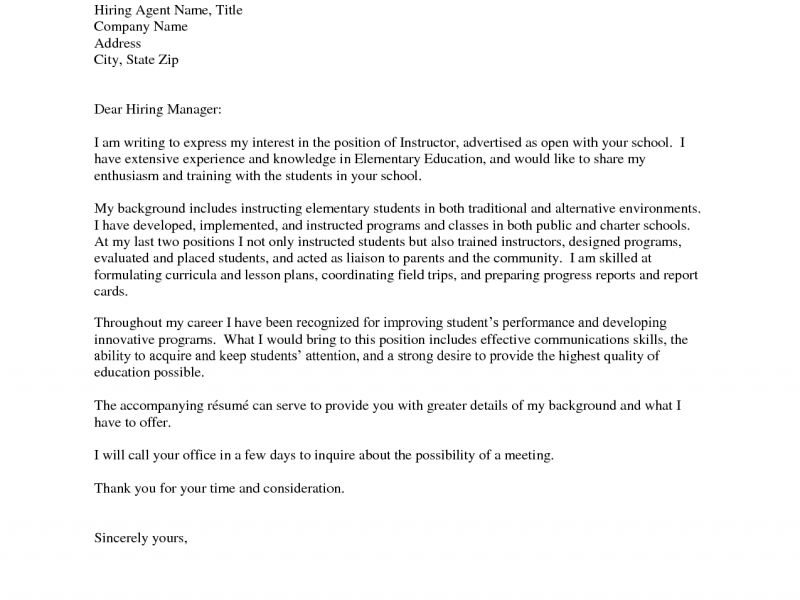 Amazing Cover Letter For Teaching 15 Job On The Job Training ...